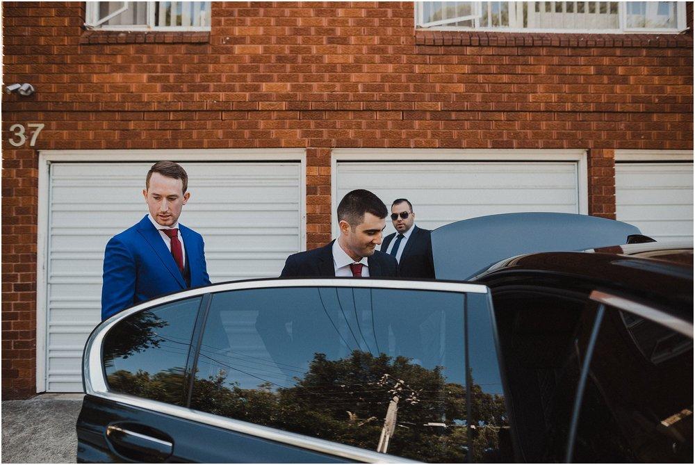 Sydney Wedding - Groom leaving for Church