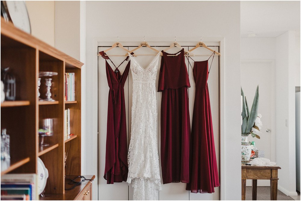Sydney Wedding - Bride Prep Dress Shot