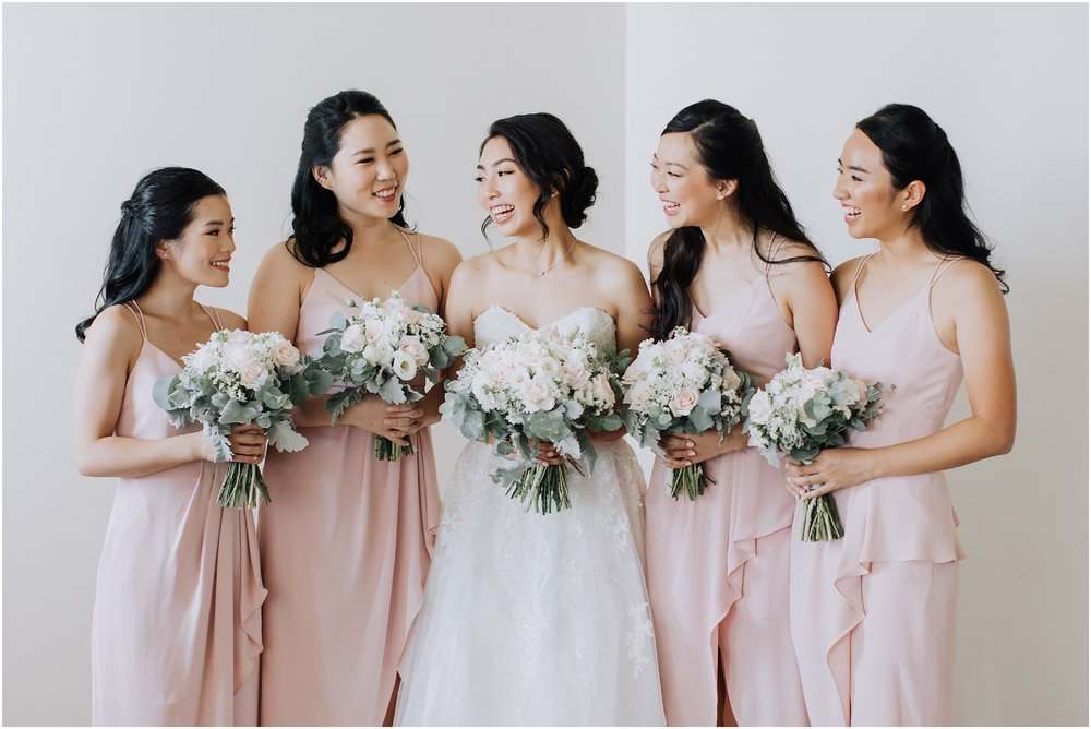 Bride and bridesmaids portrait