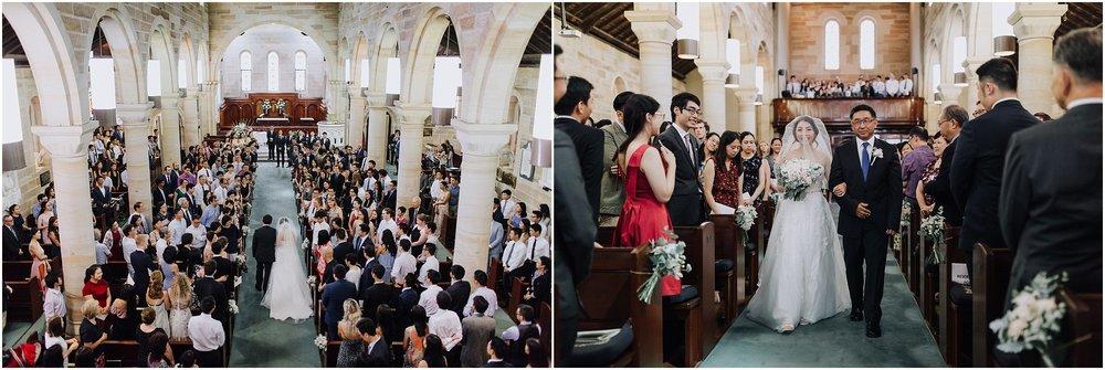Bridal precessional St. John's Anglican Cathedral Parramatta