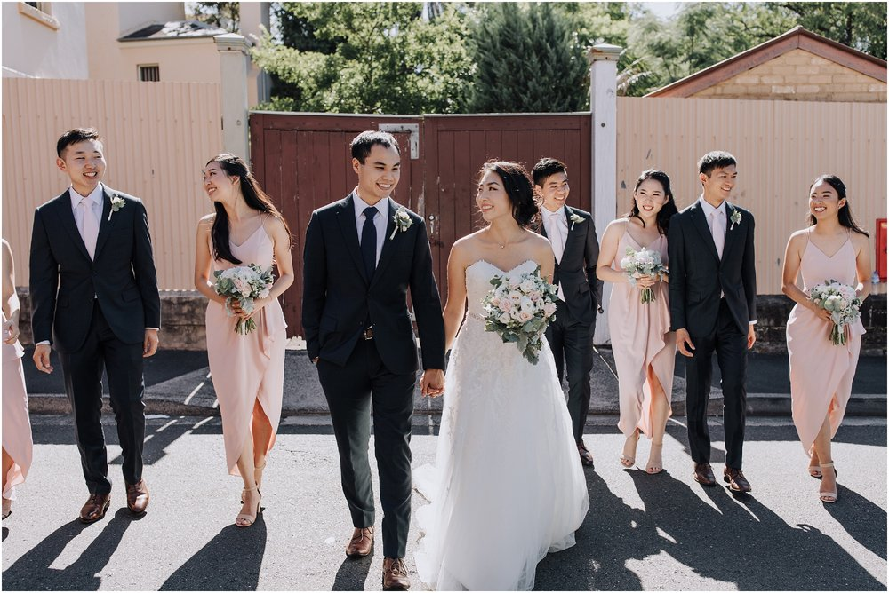 Sydney bridal party Paddington