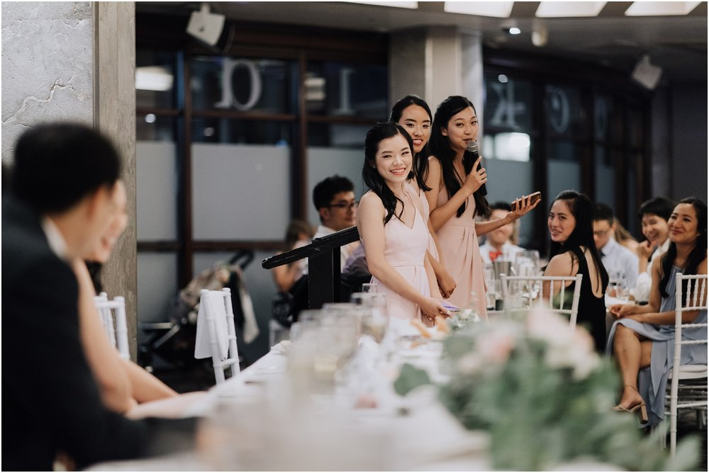 Dockside Wedding Reception Bridesmaids Speeches