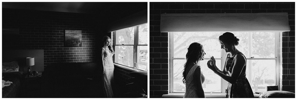 Bowral Southern Highlands Autumn Wedding - Black and white Bride candid