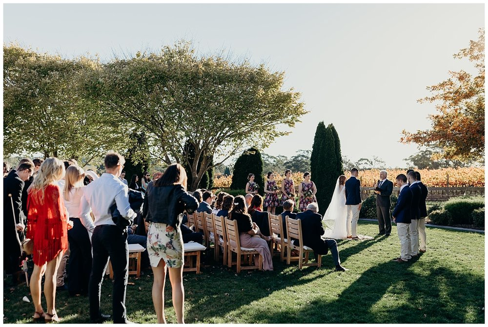 Bowral Southern Highlands Autumn Wedding - Centennial Vineyards autumn colours