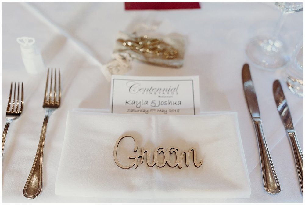 Bowral Southern Highlands Autumn Wedding - Wedding reception name cutout