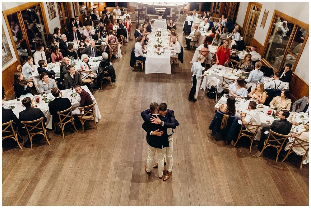 Bowral Southern Highlands Autumn Wedding - Groom and brother embrace