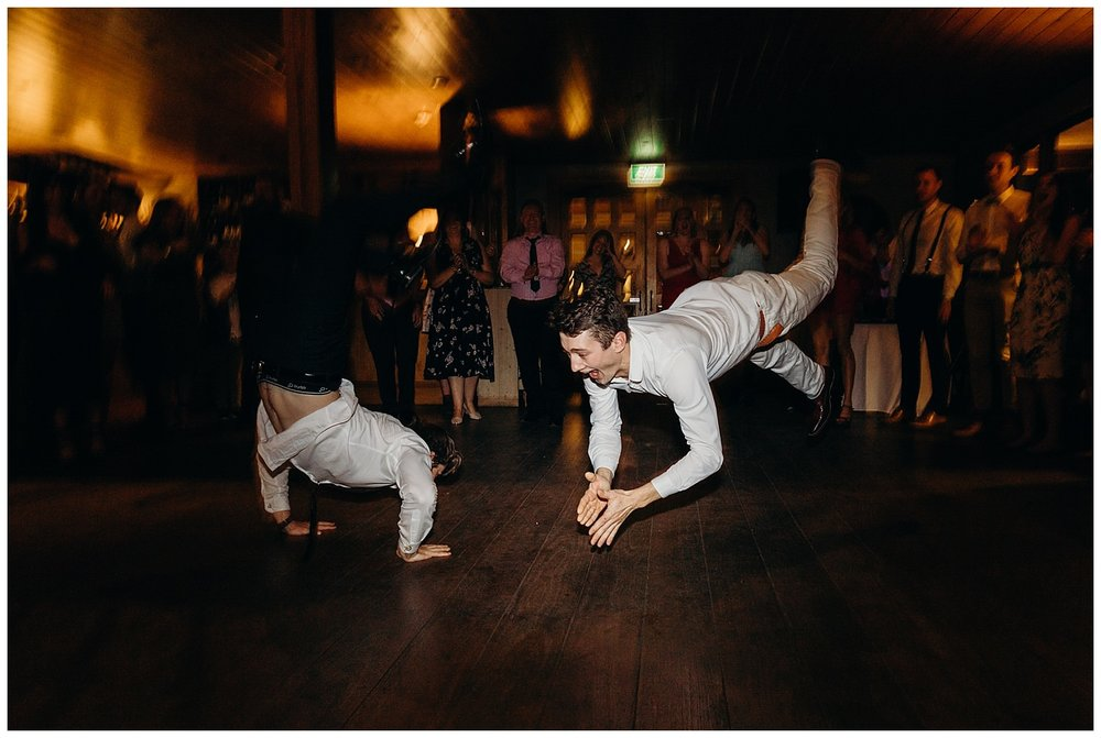 Bowral Southern Highlands Autumn Wedding - Guests dance on floor at Centennial Vineyards