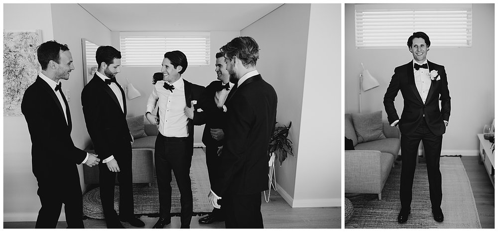 Groom gets ready with Tux by The Bespoke Corner Tailor in Sydney