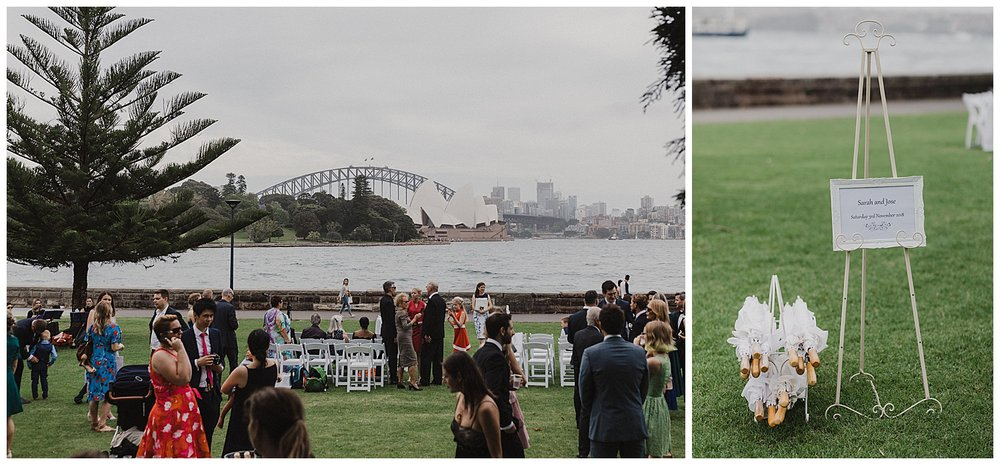 Wedding details and iconic Sydney Opera House and Harbour Bridge
