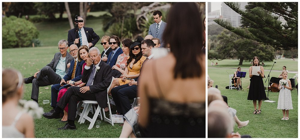 Father of the Groom sheds a tear during Sydney Wedding Ceremony