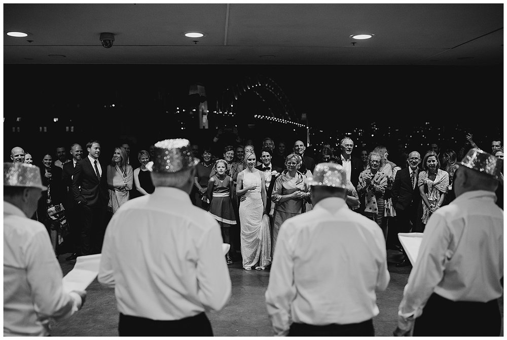 Bride and Groom react to performance at MCA Sydney Wedding Reception