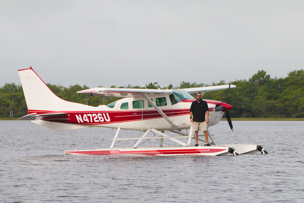 Michael Hoover with his 4 passenger Sea Plane.