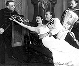 Great uncle Aladar Di Sio with Lynn Fontanne and Alfred Lunt in the show Reunion in Vienna