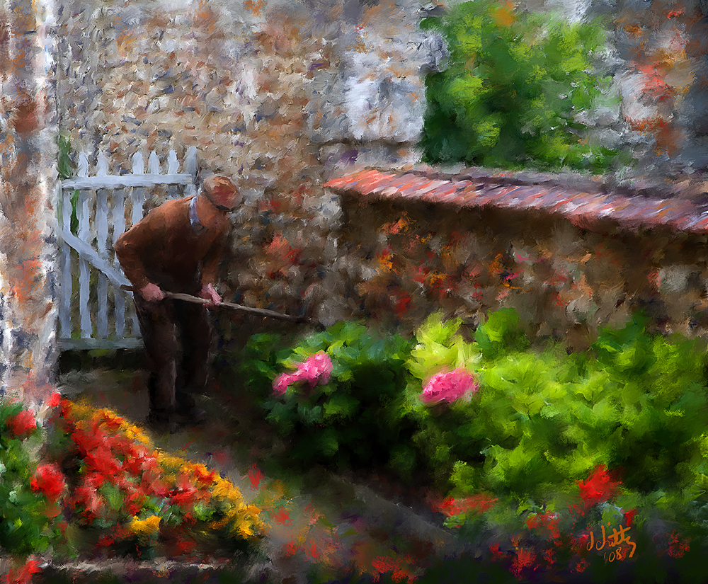 Working His Garden.jpg