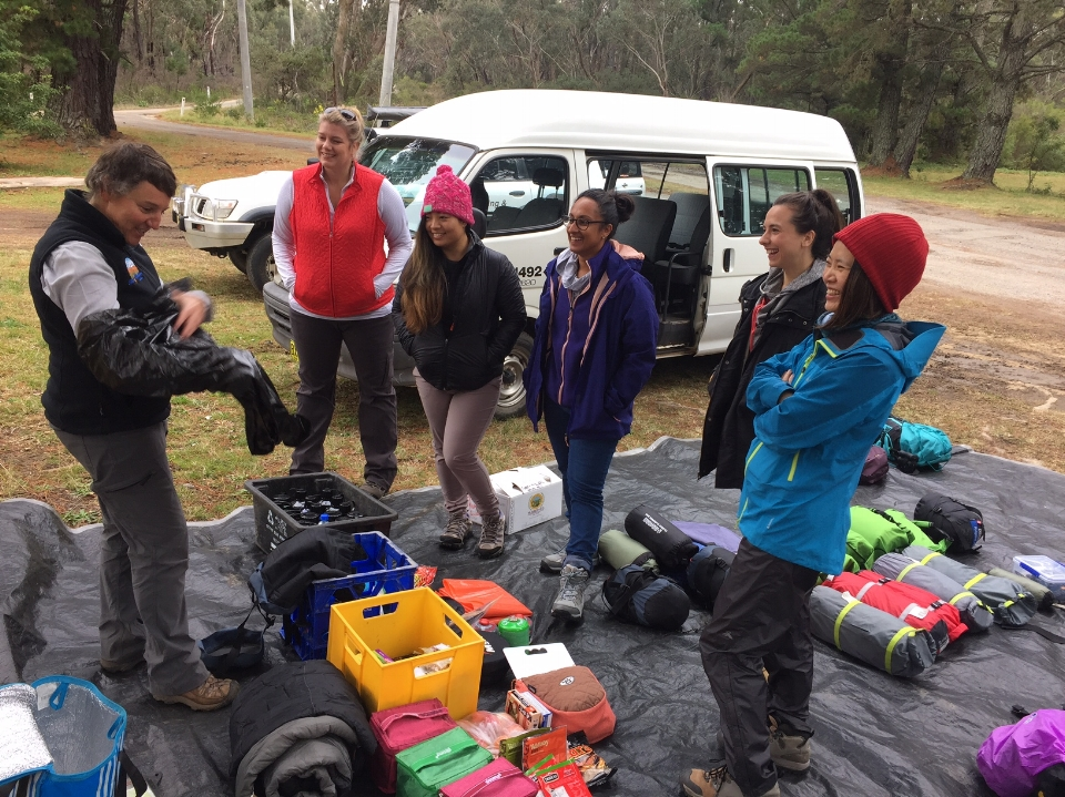Waterproofing your sleeping bag, Ruth shows us how it's done.