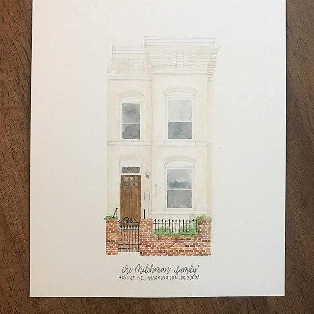 #townhouse #home #watercolor #painting #washingtondc #dc #nashvilleartist #etsy #etsyartist . . . @erinkirouacdesignco  @ekirouac