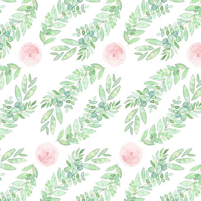 #pattern #watercolor #pink #babyshower