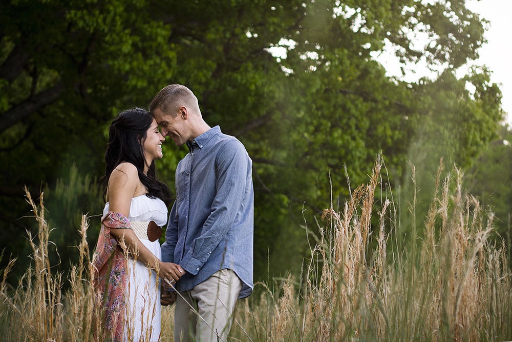 Kennesaw Mountain Engagement Session In Open Field by Chanel G. Photography