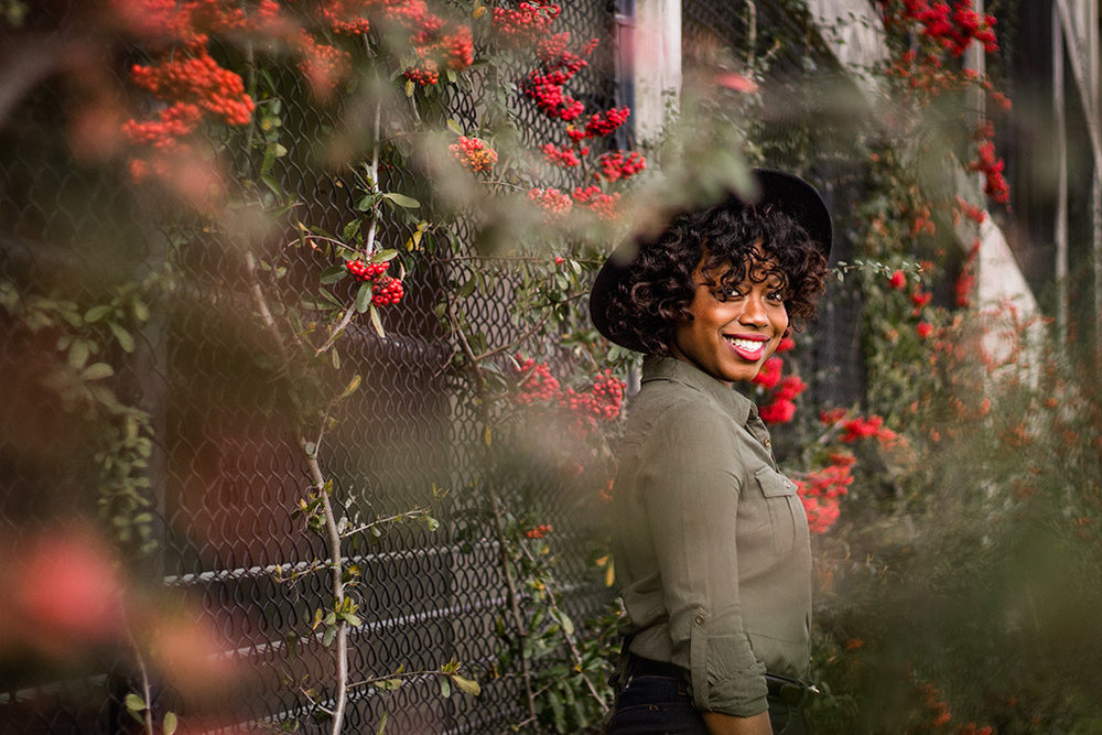 Photography-inspiration-portrait-black-woman-in-red-flowers-by-Atlanta-photographer-Chanel-French