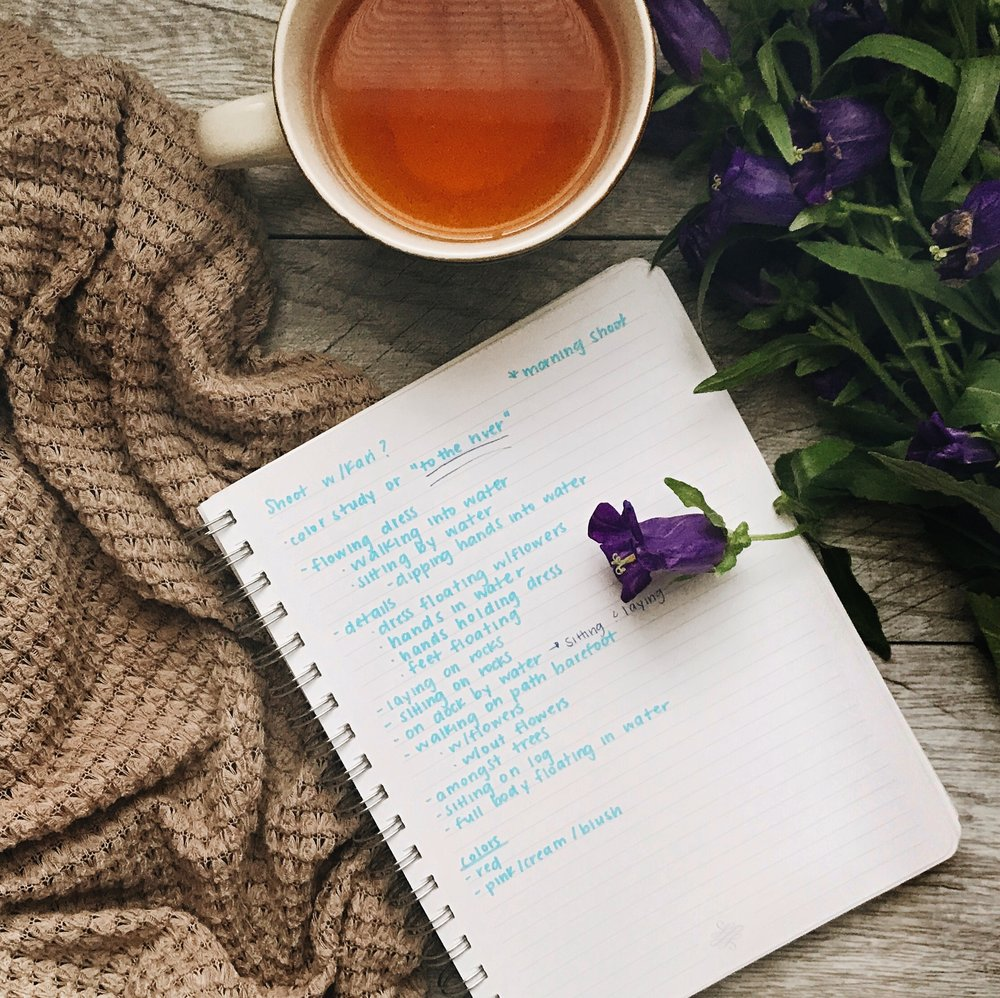 Flatlay-with-tea-and-purple-flowers-by-Atlanta-photographer-Chanel-French