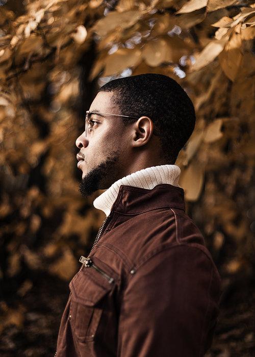 Mens Fashion Turtleneck Bomber Jacket With Beard Atlanta