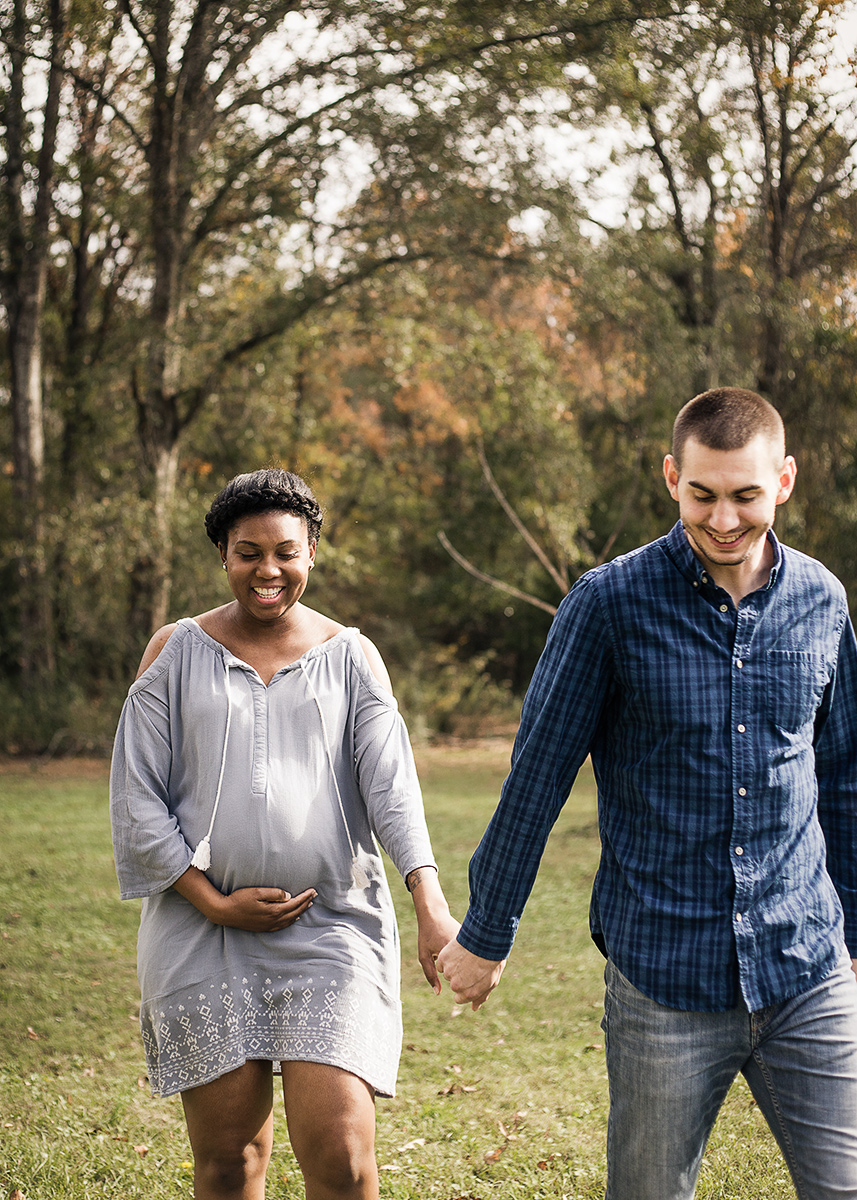 Atlanta-maternity-photoshoot-interracial-couple-in-blue-dress-by-Marietta-photographer-Chanel-French-7