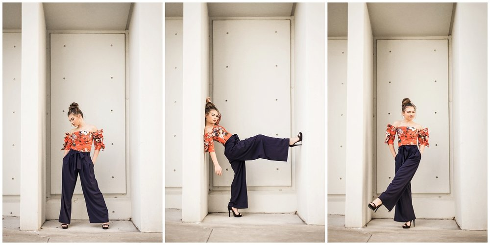 Atlanta-fashion-blogger-photographer-Chanel-French-with-Kari-Twyman-at-High-Museum-of-Art-in-orange-hm-top-blue-palazzo-pants