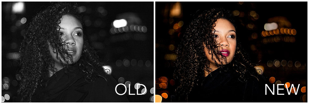 young-woman-with-curly-hair-in-downtown-city-lights-at-night-by-Atlanta-photographer-Chanel-French