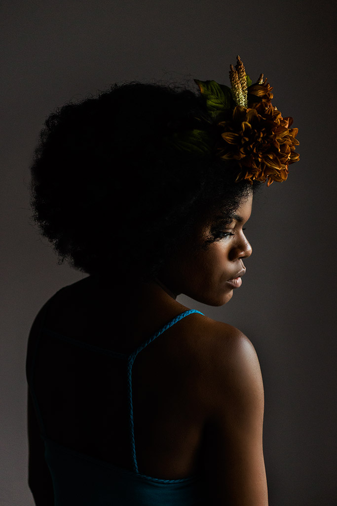 Black-woman-with-flower-crown-by-Atlanta-photographer-Chanel-French