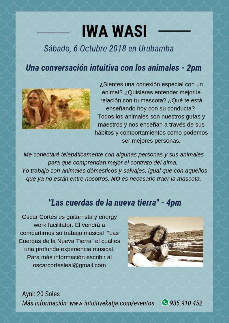 Conversacion animal y Oscar Cortés