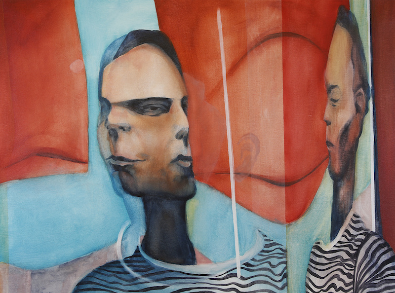 TRANSFORMING SELF - EARS114cm x 85cm, acrylic on canvas 2017 Sold