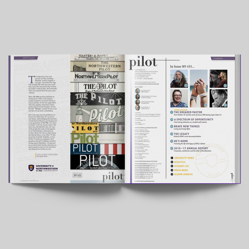 Northwestern Pilot Contents