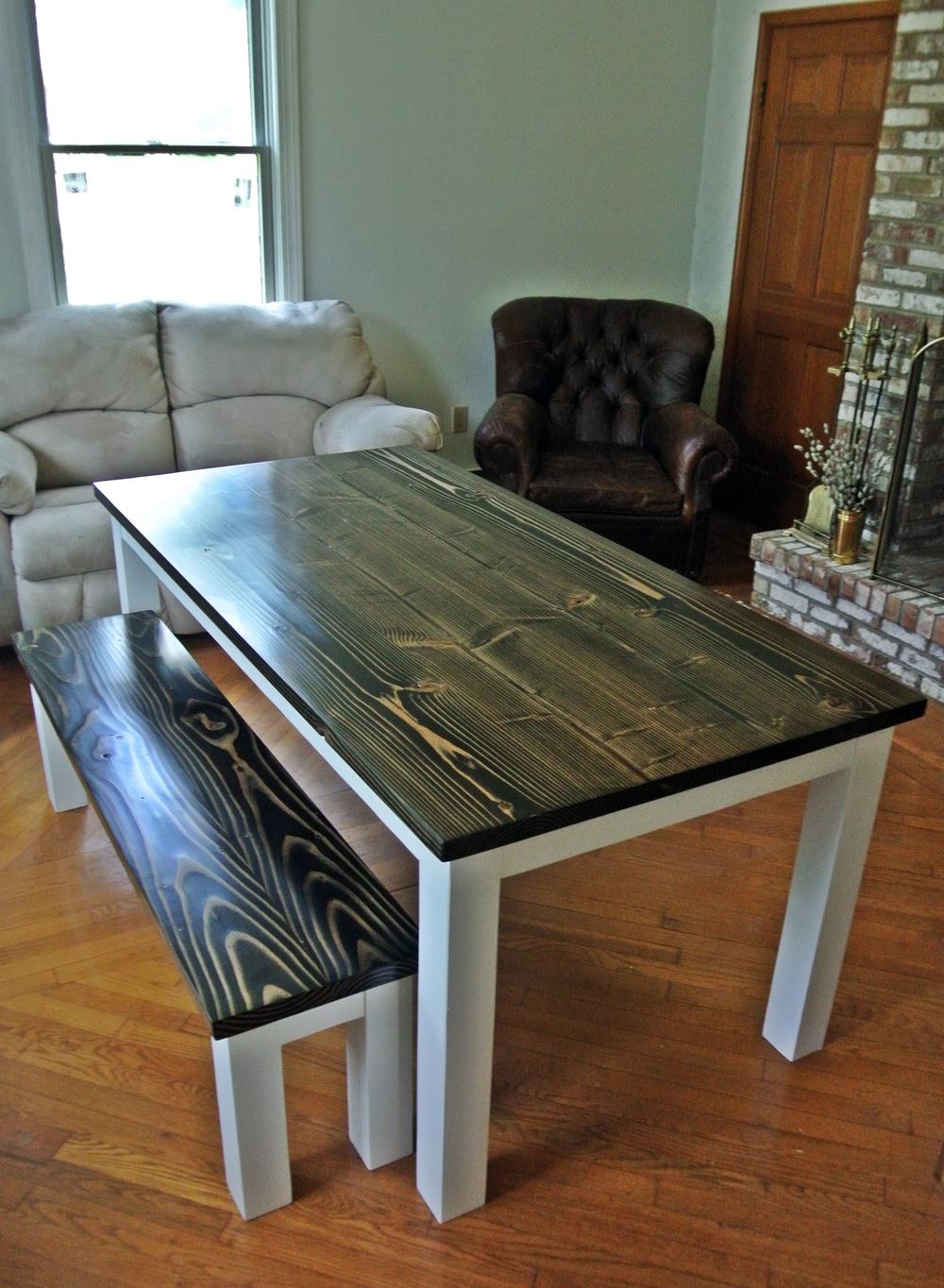 Distresed White Kitchen Table