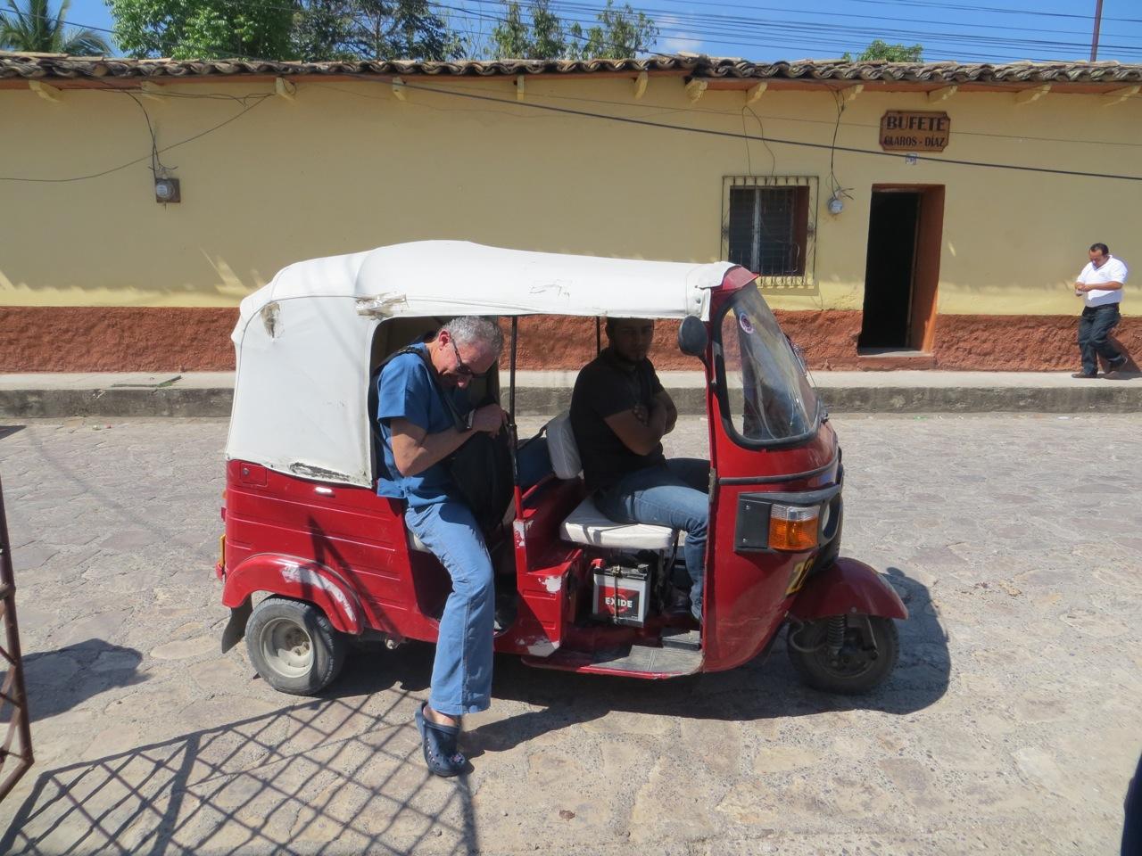A Honduran taxi
