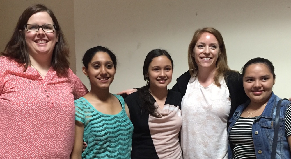 From left to right: Heather, Kimberly, Ana, Chloe, and Sara. Kimberly, Ana, and Sara were three of our valued translators!