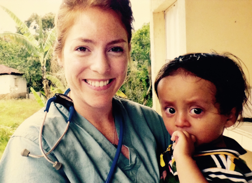 Chloe with a 2 year old Honduran patient.