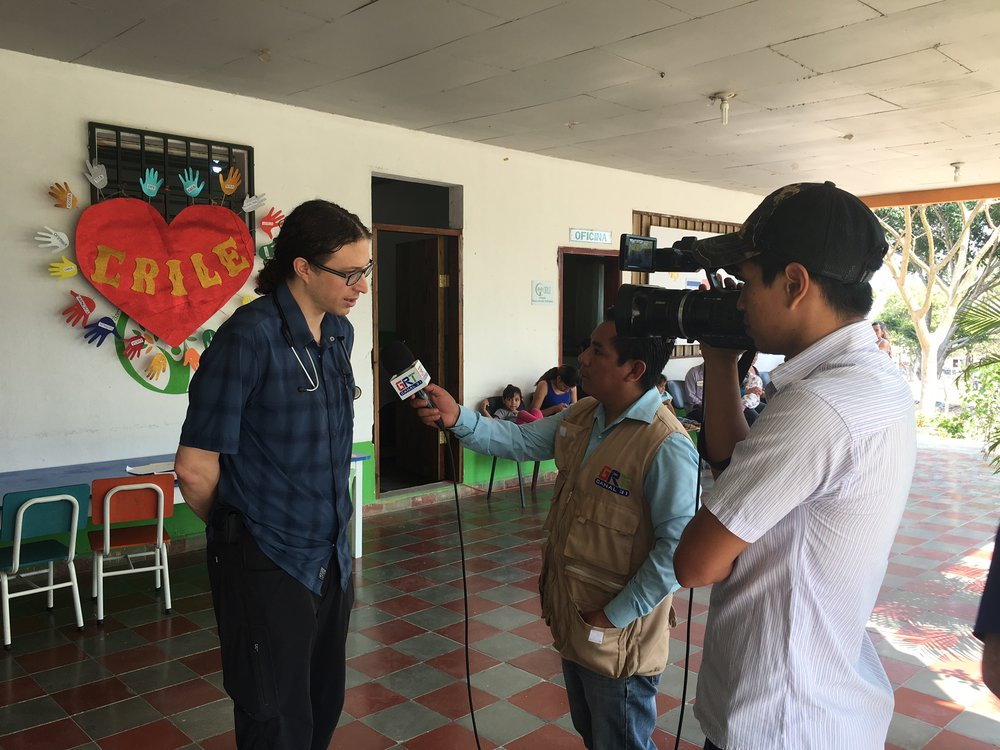Yesterday the local news interviewed Ben and our host, Rafael, about our work at CRILE.