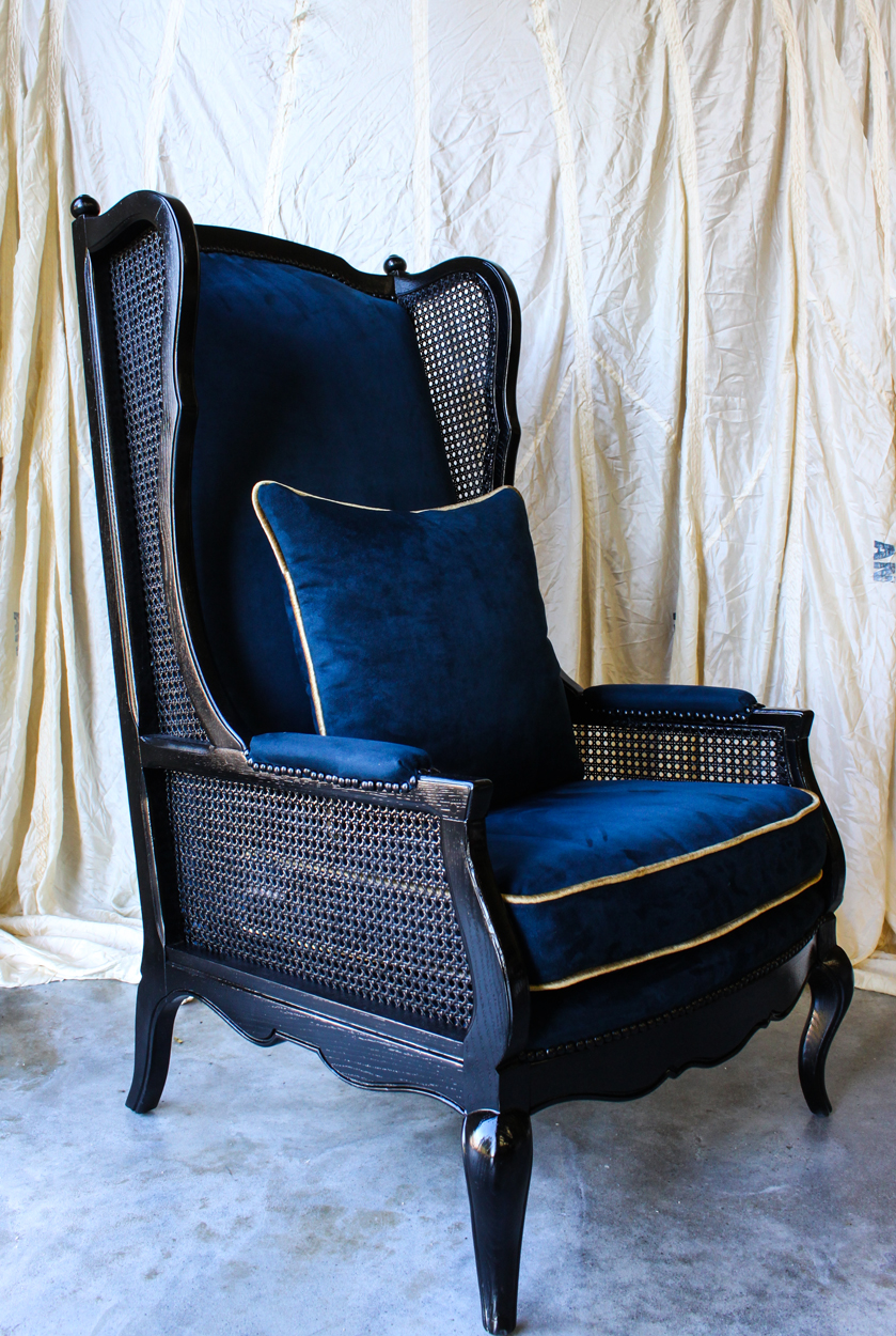 Blue Suede Chair ...