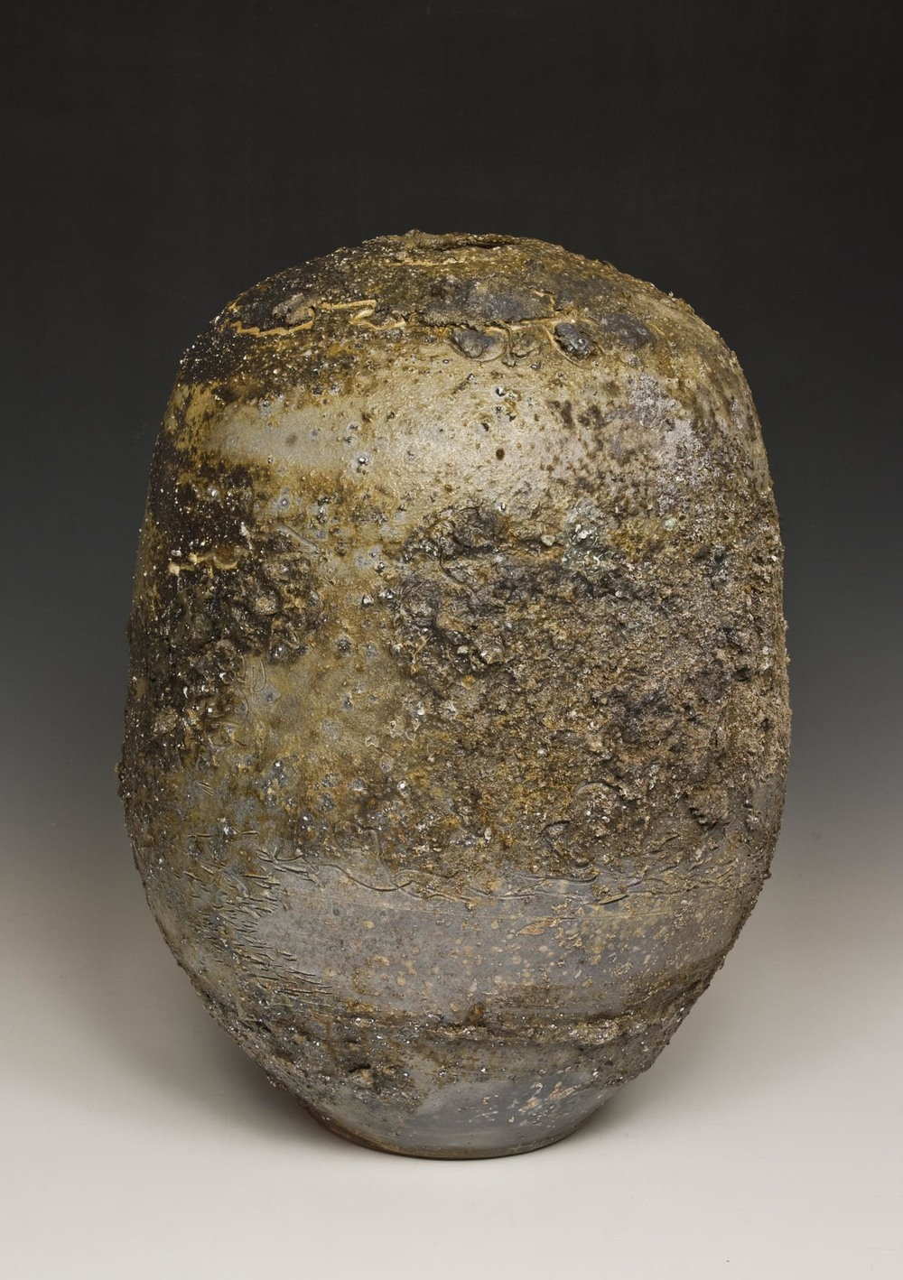 Yellow and Gray Crust Moon Jar 2.jpg