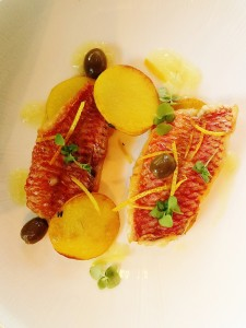 Red Mullet with Zest of orange