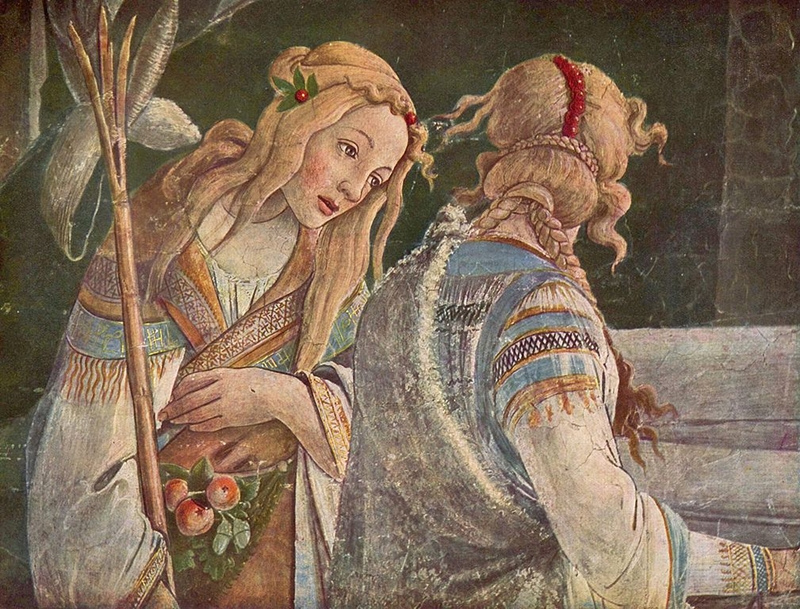 Sandro Botticelli: jethro's Daughter Zipprorah