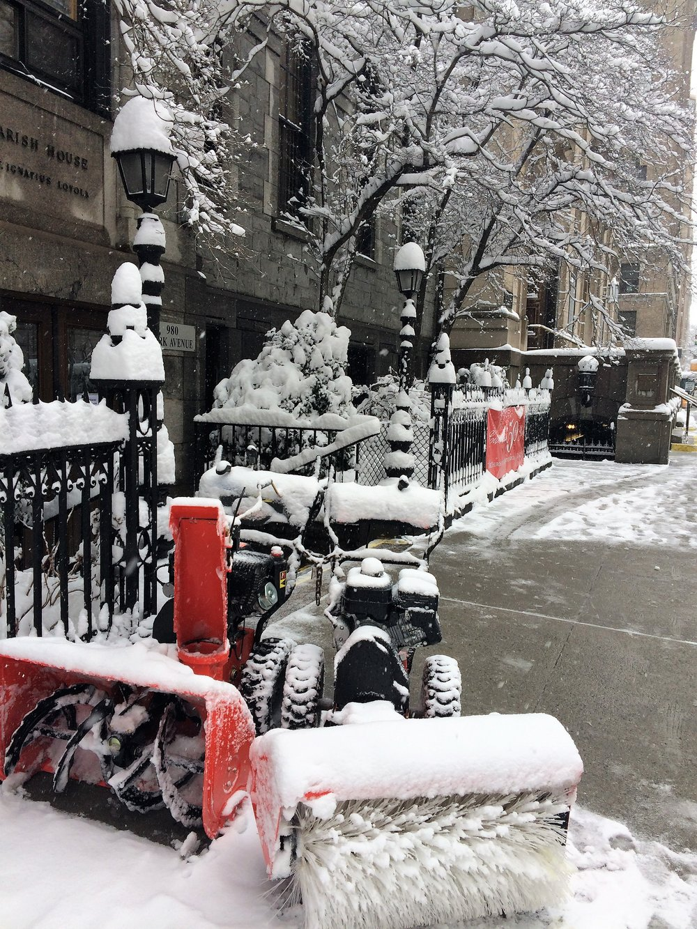 A Snowplow at Rest on Park Avenue
