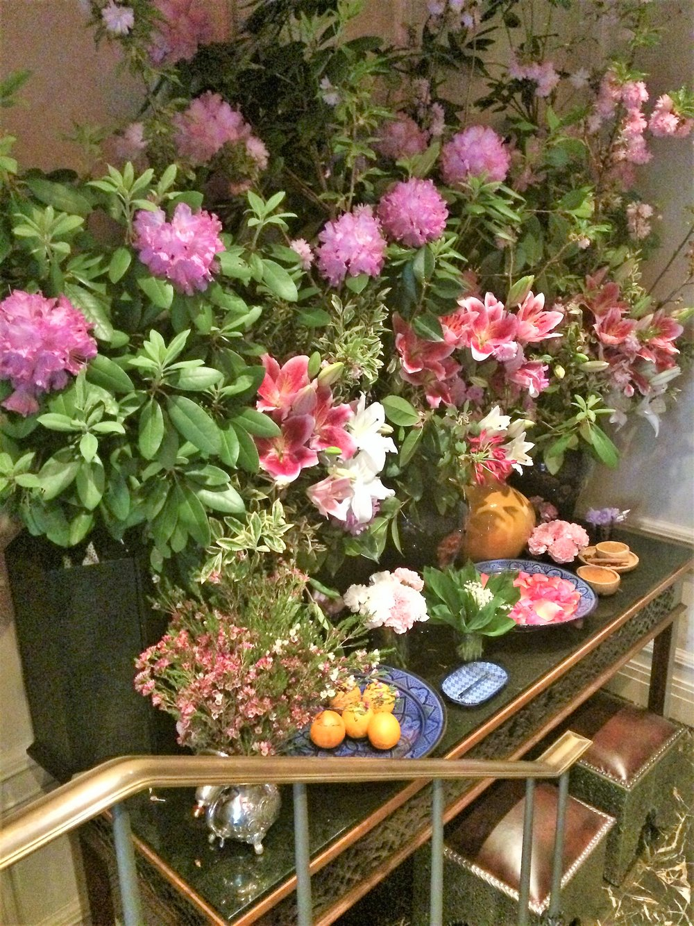 Reception area at Majorellle in the Lowell Hotel at 28 East 63rd Street