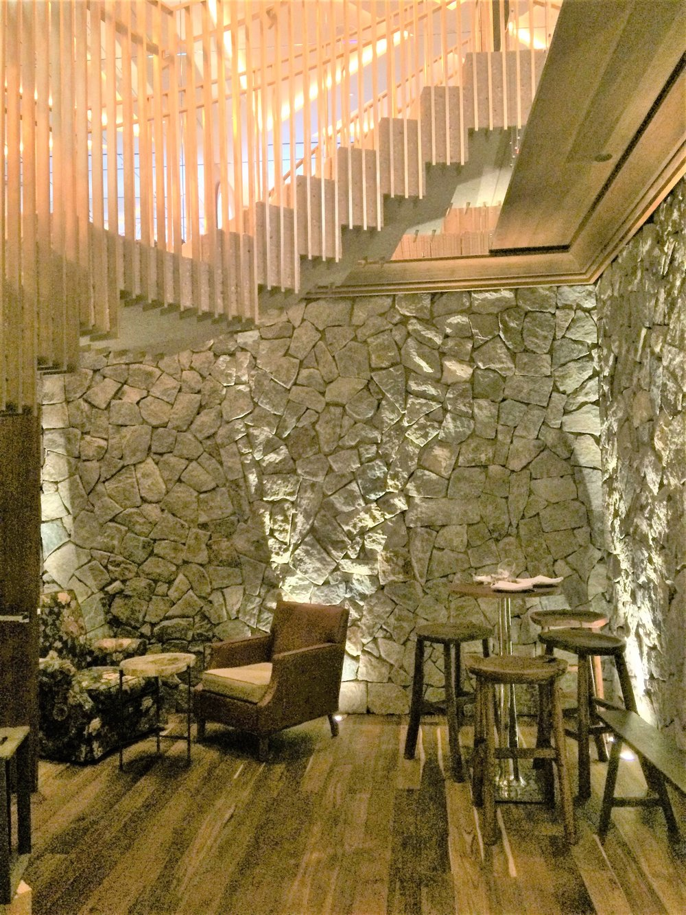 Stairway to Heaven: From the Bar to the Main Dining Room