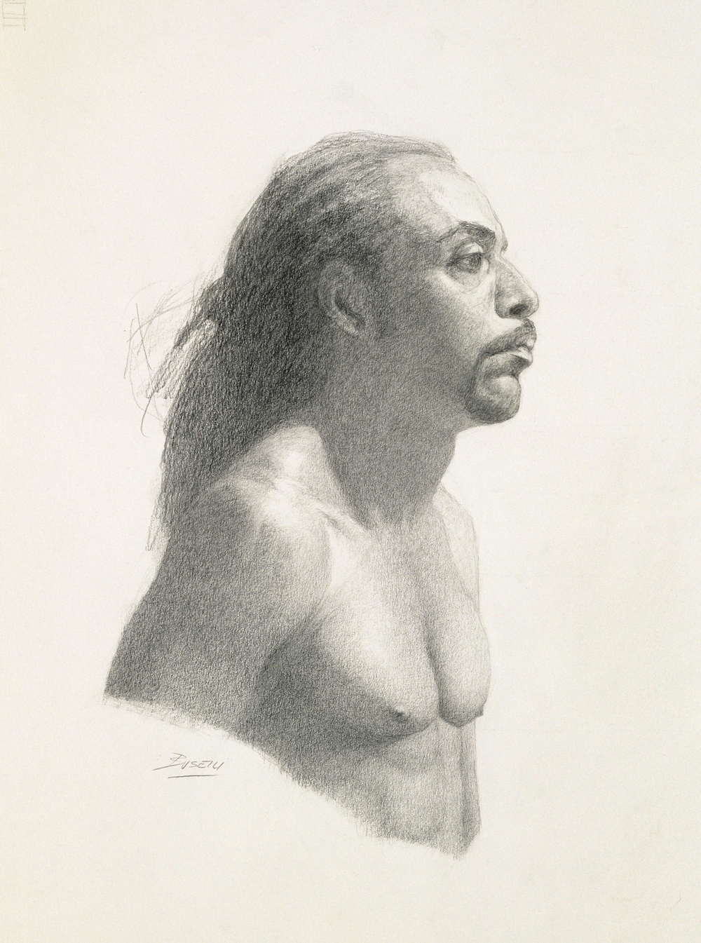 "DRAWING OF A MAN   graphite on paper | 18"" x 12"""
