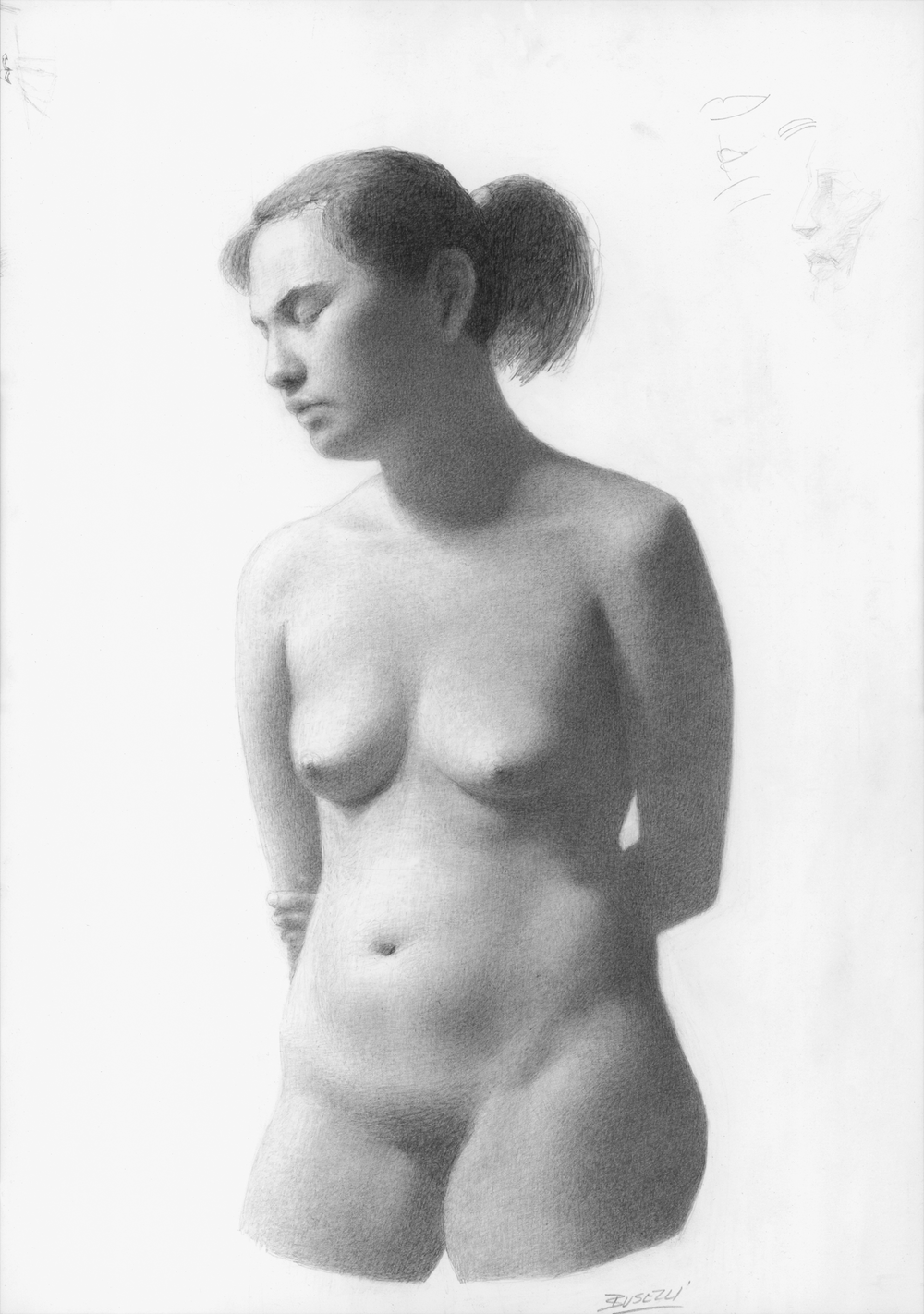 "NUDE   graphite on paper |  18"" x 12"