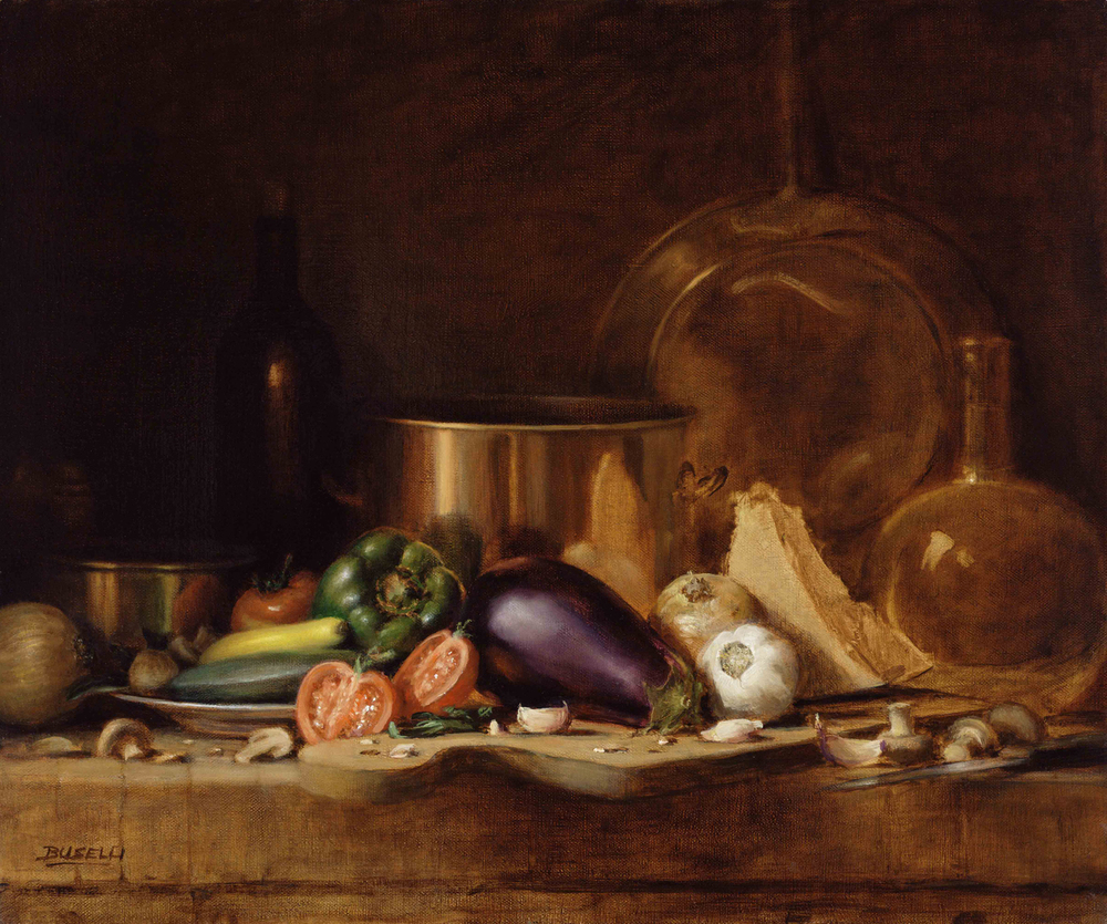 "RATATOUILLE   SEMI-FINALIST ART RENEWAL CENTER SALON  oil on linen | 20"" x 24"""