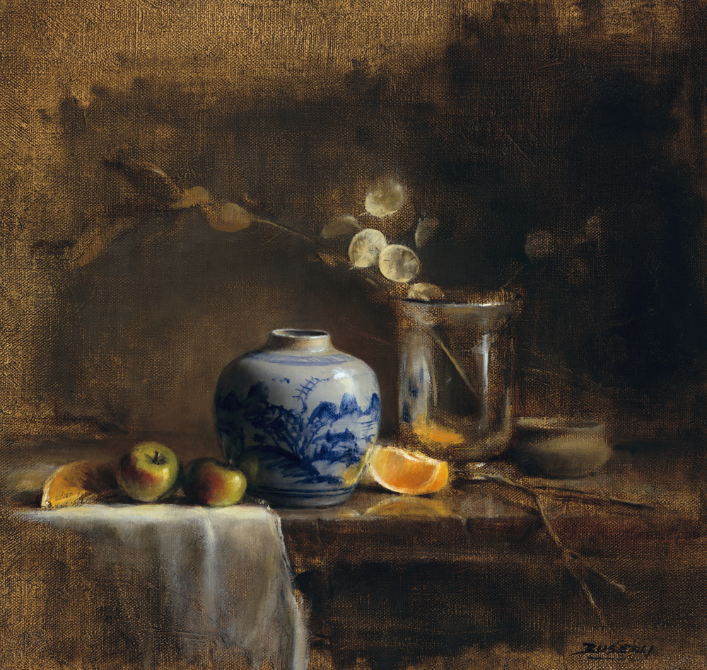 "THE CHINESE JAR   oil on linen | 15"" x 16"""