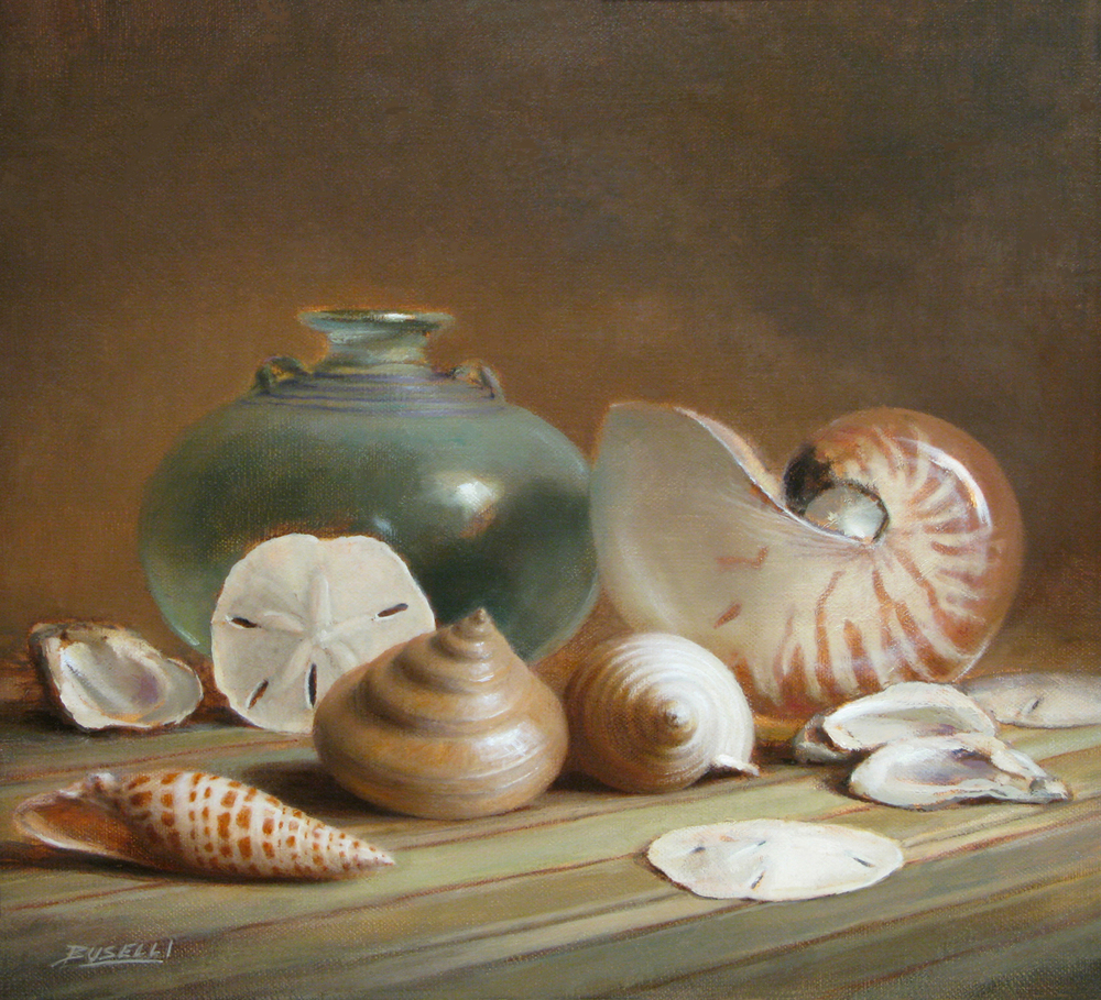 "OCEAN TREASURE   oil on canvas | 15"" x 16"""