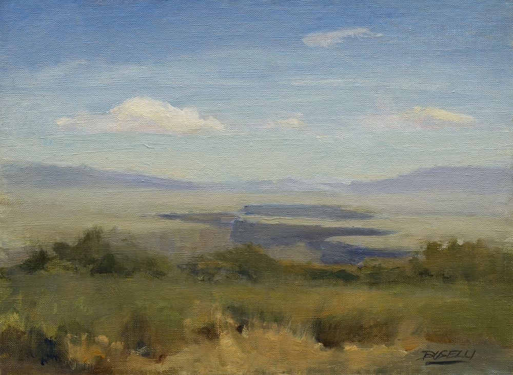 "THE RIO GRANDE, NEW MEXICO  oil on linen | 8"" x 10"""